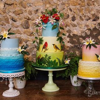 Trio of Tropical Cakes