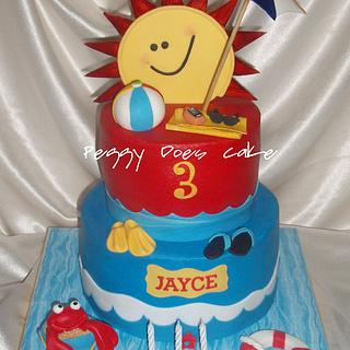Jayce's Splish Splash Cake - Cake by Peggy Does Cake