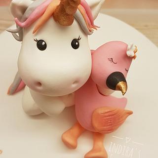 Unicorn Flamingo cake