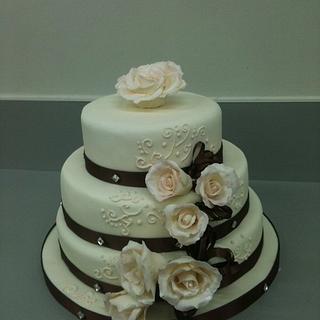 Simple Wedding cake 2011