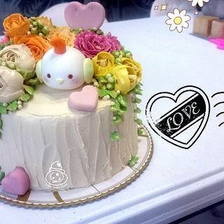 Chibi Bird Cake - Cake by Sugar Snake Cake