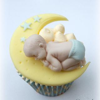 Moon and Stars Baby Shower Cupcakes