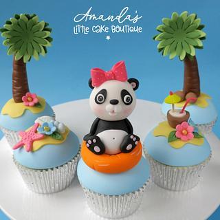Panda Vacation Cupcakes
