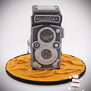 Vintage Camera Cake
