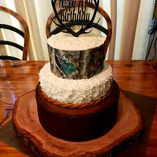 Hunting Themed Birthday Cake