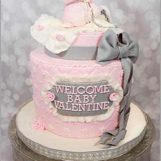 Bunny Baby Shower Cake - Cake by Bliss Pastry