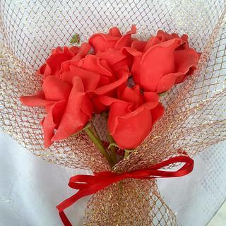 Roses on sticks