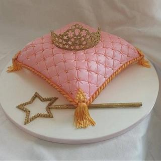 Pink cushion cake