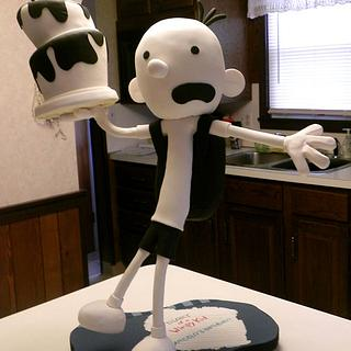 Gravity Defying Sculpted Diary of a Wimpy Kid Cake
