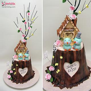 Love Nest Wedding Cake