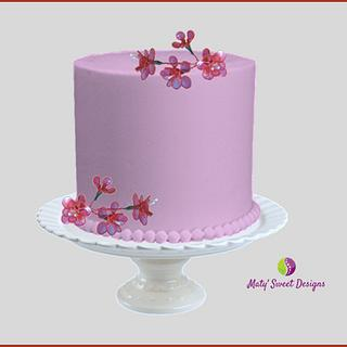 Miniature Gelatin Flowers - Cake by Maty Sweet's Designs