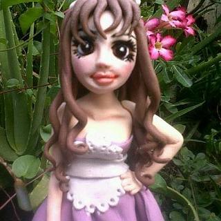 cute maid - Cake by Marissa's Sugar & Chocolate Art