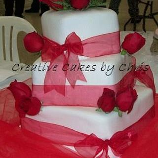 Fondant and Red Roses