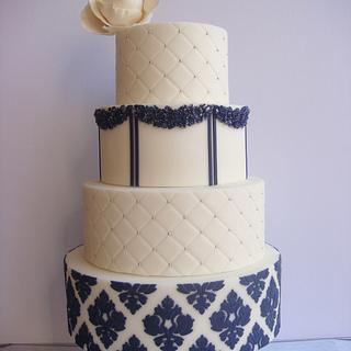 Blue and White Damask
