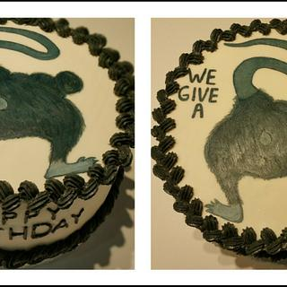 """""""We Give a Rat's ___"""" adult themed bday cake - Cake by eiciedoesitcakes"""