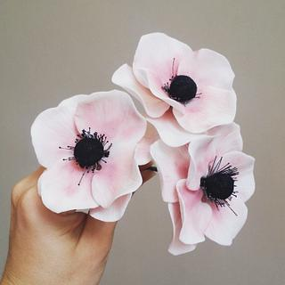Sweet Anemones  - Cake by Divine Bakes