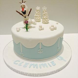 Olaf - Cake by lesley hawkins