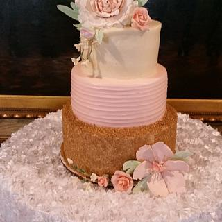 Wedding Shower For Cassie! - Cake by kitchenkapers