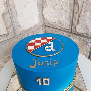 Soccer fondant cake - Dinamo