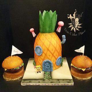 Spongbobe cake and Krabby patties