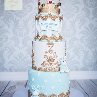 Royalty King theme Christening cake