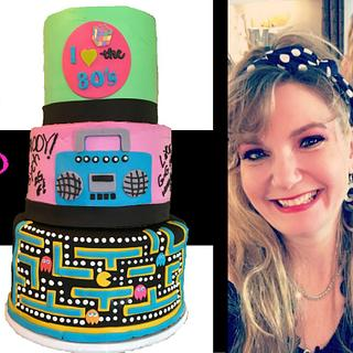 80's THEMED THREE-TIERED CAKE!