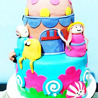 ADVENTURE TIME CAKE AND CUPCAKES  - Cake by Christopher john ofina
