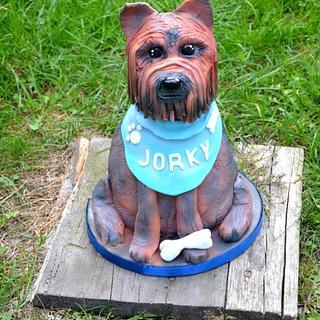 Yorkshrie 3D cake