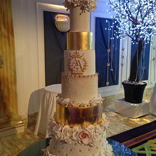 Versace Gold - Cake by Louisa Massignani