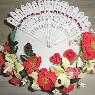 Fan and Roses