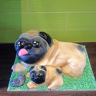 Pugs cake - Cake by Cakes4you.ewelina