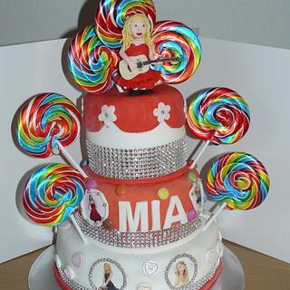 Taylor Swift Rainbow Bling Cake