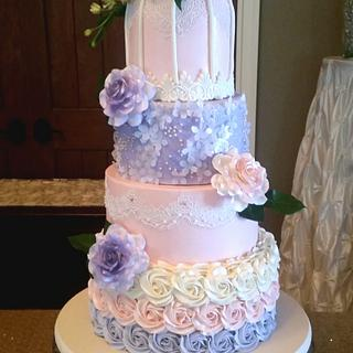 Blush and Lavender Birdcage Wedding