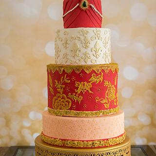 Caker Buddies Collaboration: The Punjabi Wedding - Cake by deliciousventures