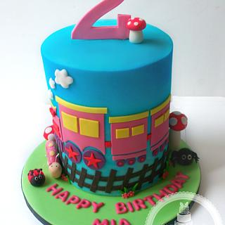 Cute Train Themed Cake