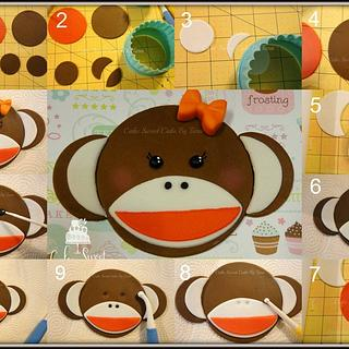 How to make Monkey face for cake/cupcake decoration