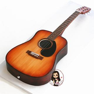 Acoustic guitar cake - Cake by Inspired Cakes - by Amy
