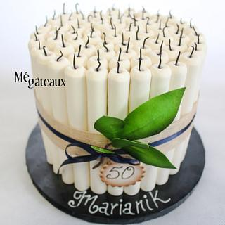 candles cake