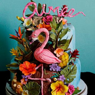 Aimee's Tropical birthday cake