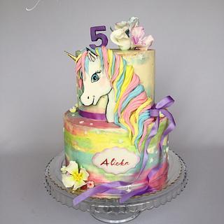 Unicorn rainbow cake  - Cake by Layla A