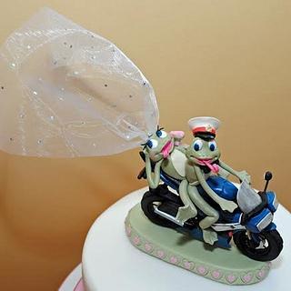 A Frog Wedding! - Cake by Sylvania Cakes - Exeter