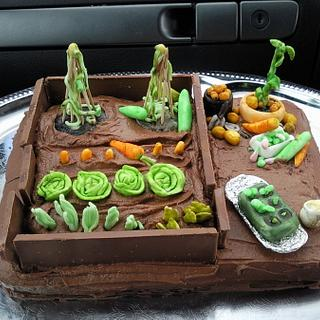 Chocolate allotment - vegetable patch