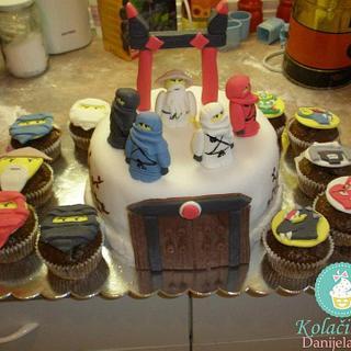 Lego Ninjago cake and muffins