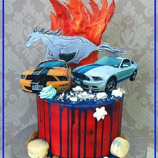 Mustang Drip Cake