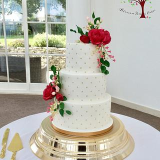 Fuschia & Gold wedding