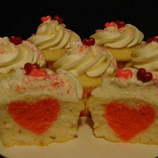 heart in a cupcake