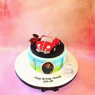 Red Volks Wagen Cake 🚘🌹