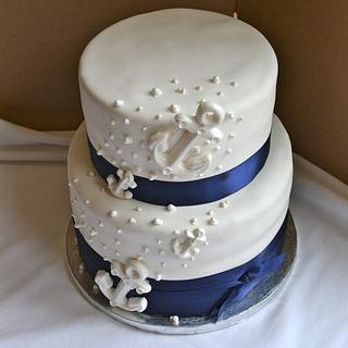 Challenging Nautical Wedding Cake