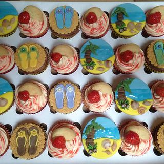 A summer of cupcakes - Cake by Enchanting Cupcakes hobby cakes