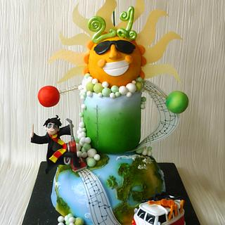 Science, music, Toy Story, VW Campervan and Harry Potter!  - Cake by Janette MacPherson Cake Craft
